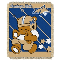 Montana State Bobcats NCAA Triple Woven Jacquard Throw (Fullback Baby Series) (36x48)