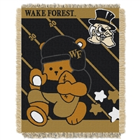 Wake Forest Demon Deacons NCAA Triple Woven Jacquard Throw (Fullback Baby Series) (36x48)