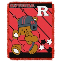 Rutgers Scarlet Knights NCAA Triple Woven Jacquard Throw (Fullback Baby Series) (36x48)