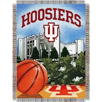 "Indiana Hoosiers NCAA Woven Tapestry Throw (Home Field Advantage) (48x60"")"""