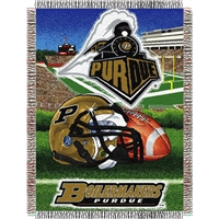 "Purdue Boilermakers NCAA Woven Tapestry Throw (Home Field Advantage) (48x60"")"""