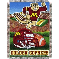 "Minnesota Golden Gophers NCAA Woven Tapestry Throw (Home Field Advantage) (48x60"")"""