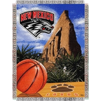 "New Mexico Lobos NCAA Woven Tapestry Throw (Home Field Advantage) (48x60"")"""