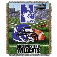 Northwestern Wildcats NCAA Triple Woven Jacquard Throw (48x60)