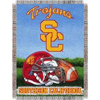 "USC Trojans NCAA Woven Tapestry Throw (Home Field Advantage) (48x60"")"""
