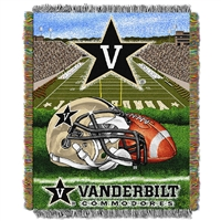 Vanderbilt Commodores NCAA Woven Tapestry Throw (Home Field Advantage) (48x60)