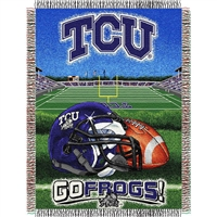 "Texas Christian Horned Frogs NCAA Woven Tapestry Throw (Home Field Advantage) (48x60"")"""