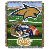 Montana State Bobcats NCAA Woven Tapestry Throw (Home Field Advantage) (48x60)