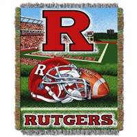 Rutgers Scarlet Knights NCAA Woven Tapestry Throw (Home Field Advantage) (48x60)