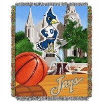 Creighton Bluejays NCAA Woven Tapestry Throw (Home Field Advantage) (48x60)