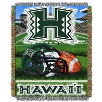 Hawaii Rainbow Warriors NCAA Woven Tapestry Throw (Home Field Advantage) (48x60)