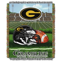 Grambling Tigers NCAA Woven Tapestry Throw (Home Field Advantage) (48x60)