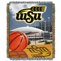 Wichita State Shockers NCAA Woven Tapestry Throw (Home Field Advantage) (48x60)