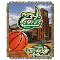 North Carolina Charlotte 49ers NCAA Woven Tapestry Throw (Home Field Advantage) (48x60)
