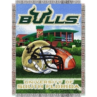 "South Florida Bulls NCAA Woven Tapestry Throw (Home Field Advantage) (48x60"")"""