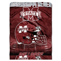 Mississippi State Bulldogs NCAA Micro Raschel Blanket (Overtime Series) (80x60)