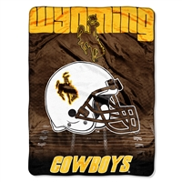 Wyoming Cowboys NCAA Micro Raschel Blanket (Overtime Series) (80x60)