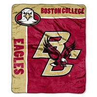 Boston College Eagles NCAA Royal Plush Raschel Blanket (School Spirit Series) (50in x 60in)