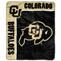 Colorado Golden Buffaloes NCAA Royal Plush Raschel Blanket (School Spirit Series) (50in x 60in)