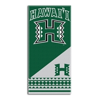 Hawaii Rainbow Warriors NCAA Fiber Reactive Beach Towel (Home Series) (28in x 58in)