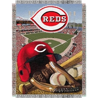 "Cincinnati Reds MLB Woven Tapestry Throw (Home Field Advantage) (48x60"")"""