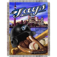"Toronto Blue Jays MLB Woven Tapestry Throw (Home Field Advantage) (48x60"")"""