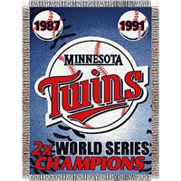 "Minnesota Twins MLB World Series Commemorative Woven Tapestry Throw (48x60"")"""