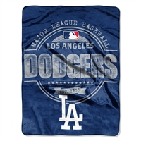 Los Angeles Dodgers MLB Micro Raschel Blanket (Structure Series) (46in x 60in)