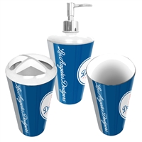 Los Angeles Dodgers MLB Bath Tumbler, Toothbrush Holder & Soap Pump (3pc Set)