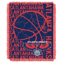 Atlanta Hawks NBA Triple Woven Jacquard Throw (Double Play Series) (48x60)