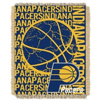 Indiana Pacers NBA Triple Woven Jacquard Throw (Double Play Series) (48x60)