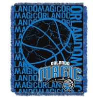 Orlando Magic NBA Triple Woven Jacquard Throw (Double Play Series) (48x60)