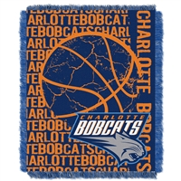 Charlotte Bobcats NBA Triple Woven Jacquard Throw (Double Play Series) (48x60)