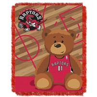 Toronto Raptors NBA Triple Woven Jacquard Throw (Half Court Baby Series) (36x48)