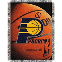 "Indiana Pacers NBA Woven Tapestry Throw Blanket (48x60"")"""