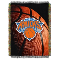 New York Knicks NBA Triple Woven Jacquard Throw (48x60)