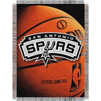 "San Antonio Spurs NBA Woven Tapestry Throw Blanket (48x60"")"""