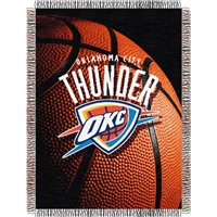 "Oklahoma City Thunder NBA Woven Tapestry Throw (48x60"")"""