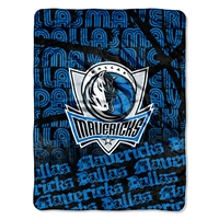 Dallas Mavericks NBA Micro Raschel Blanket (Redux Series) (46in x 60in)