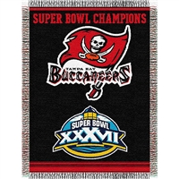 "Tampa Bay Buccaneers NFL Super Bowl Commemorative Woven Tapestry Throw (48x60"")"""