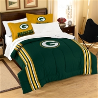 Green Bay Packers NFL Embroidered Comforter Twin/Full (Contrast Series) (64 x 86)