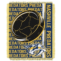 Nashville Predators NHL Triple Woven Jacquard Throw (Double Play Series) (48x60)