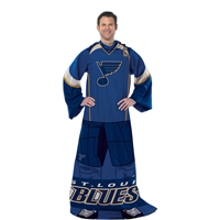 St. Louis Blues NHL Adult Uniform Comfy Throw Blanket w/ Sleeves