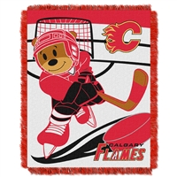 Calgary Flames NHL Triple Woven Jacquard Throw (Score Baby Series) (36x48)