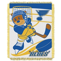 St. Louis Blues NHL Triple Woven Jacquard Throw (Score Baby Series) (36x48)