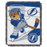 Tampa Bay Lightning NHL Triple Woven Jacquard Throw (Score Baby Series) (36x48)