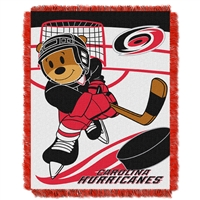 Carolina Hurricanes NHL Triple Woven Jacquard Throw (Score Baby Series) (36x48)