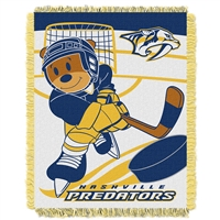 Nashville Predators NHL Triple Woven Jacquard Throw (Score Baby Series) (36x48)