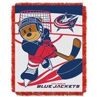 Columbus Blue Jackets NHL Triple Woven Jacquard Throw (Score Baby Series) (36x48)