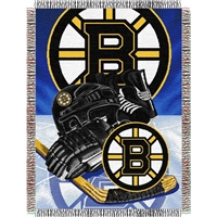 "Boston Bruins NHL Woven Tapestry Throw (Home Ice Advantage) (48x60"")"""